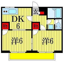 千葉県船橋市三山8丁目の賃貸アパートの間取り