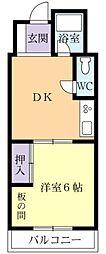 リバーサイドF・K[4階]の間取り