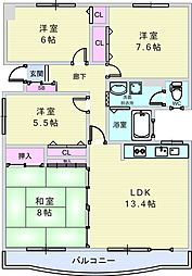 上野坂グリーン2[2階]の間取り