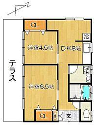 [一戸建] 千葉県松戸市竹ケ花西町 の賃貸【/】の間取り