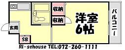 大阪府和泉市池上町2丁目の賃貸マンションの間取り