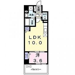 サンプラザ茨木[4階]の間取り