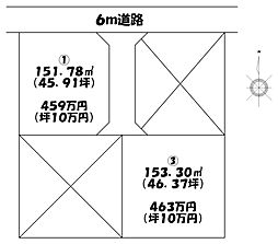 土地(佐野駅から徒歩34分、151.78m²、459万円)