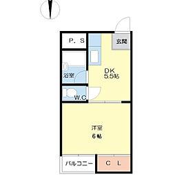 ワーカーVOL.1[1階]の間取り