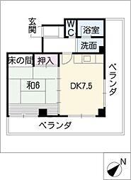 長平閣[2階]の間取り