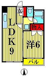 フォルジュ山田[4階]の間取り
