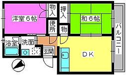 レジデンス飯田[2階]の間取り