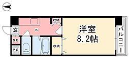ジョイフル第2朝生田[406号室]の間取り