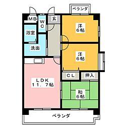 カサ・フェリスIII[2階]の間取り