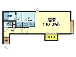 北海道札幌市手稲区手稲本町二条1丁目の賃貸アパートの間取り