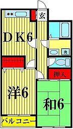 第五コンクラマンション[3階]の間取り