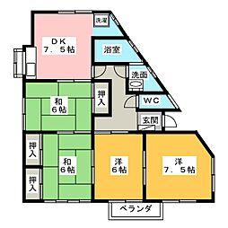 大野コーポ[1階]の間取り
