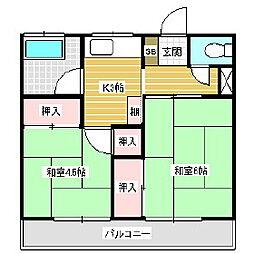 三沢アパート[2階]の間取り