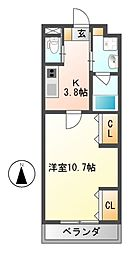 大阪府藤井寺市惣社2丁目の賃貸アパートの間取り