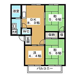 ファミール小松原[1階]の間取り