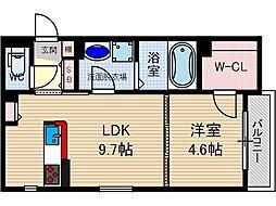 さくら2番館[1階]の間取り