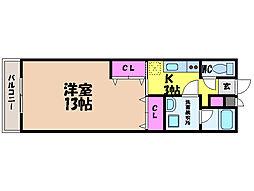 愛媛県松山市藤原1丁目の賃貸アパートの間取り