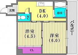 エルパラッツォ新神戸[303号室]の間取り