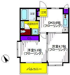 武蔵ヶ丘[1階]の間取り