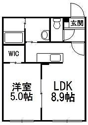 北海道札幌市豊平区美園十条6丁目の賃貸マンションの間取り