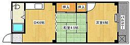 広島県広島市南区丹那町の賃貸マンションの間取り