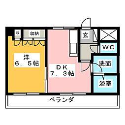 コンフォール前田II[2階]の間取り