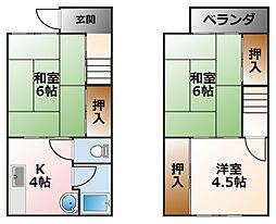 [テラスハウス] 兵庫県西宮市小曽根町3丁目 の賃貸【/】の間取り
