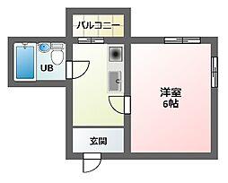 エムロード駒川[2階]の間取り