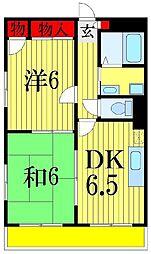 メゾンミカド[3階]の間取り