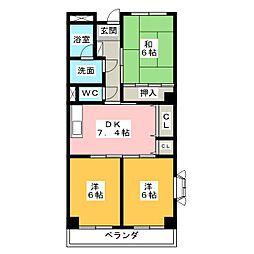 Avenue II[1階]の間取り