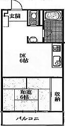 秀和東十条レジデンス[2階]の間取り