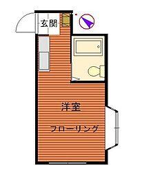 神奈川県横浜市神奈川区六角橋4丁目の賃貸アパートの間取り