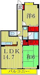 プライムガーデン[4階]の間取り