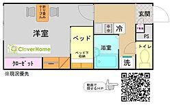 東京都町田市金森5丁目の賃貸アパートの間取り
