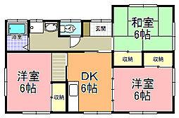 [一戸建] 茨城県ひたちなか市東石川 の賃貸【/】の間取り