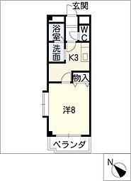 ブランシェ B棟[3階]の間取り