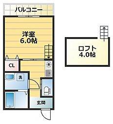 パレスハナテンPart I[2階]の間取り