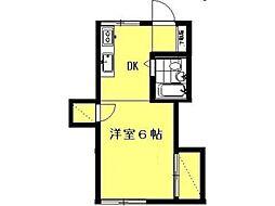 武蔵台アパート[1階]の間取り