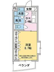 コンシェルジュモリシマ[1階]の間取り