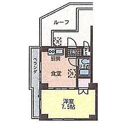 野村マンション[406号室]の間取り