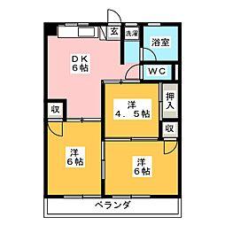マルヤスハイツ美濃加茂[4階]の間取り