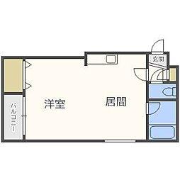 レジデンス白石B[4階]の間取り