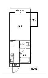 ドミール西口B[2階]の間取り
