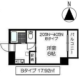 メゾン志賀[202N号室]の間取り