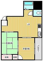 マンションミルキーウェイ[4階]の間取り
