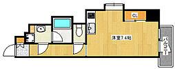 阪急神戸本線 王子公園駅 徒歩8分の賃貸マンション 7階ワンルームの間取り