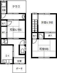[一戸建] 大阪府豊中市小曽根3丁目 の賃貸【/】の間取り