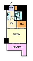 ホワイトマンション西新[2階]の間取り