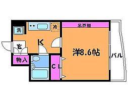 T's garden稲城 (ティーズガーデン稲城)[4階]の間取り