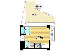東京都新宿区神楽坂6丁目の賃貸マンションの間取り